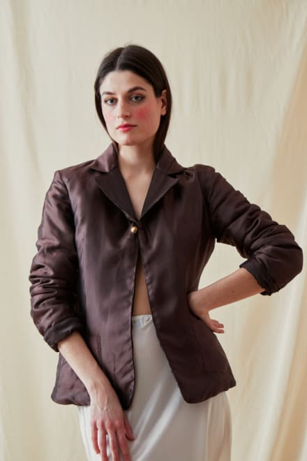 Veste reversible molletonnee AGIA Marron-Chocolat - 5