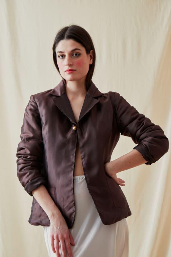 Reversible fleece jacket AGIA Brown-Chocolate - 5